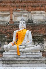 Old Buddha in Ayutthaya Province, Thailand.