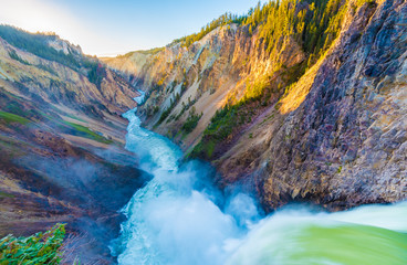 Brink of the Lower Falls, Yellowstone Grand Canyon