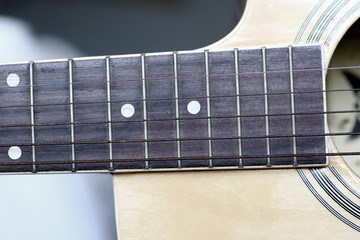 Close up Classical guitar.