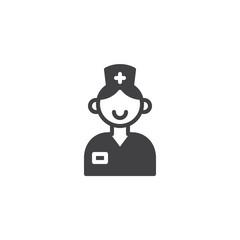 Nurse icon vector, filled flat sign, solid pictogram isolated on white. Symbol, logo illustration