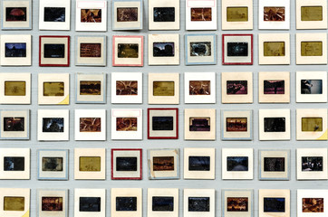 Retro 35mm analog film slide artistic
