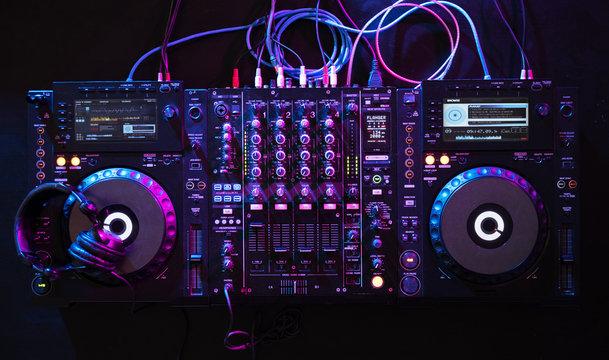 Mixer euipment entertainment DJ station