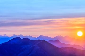 Monte Tamaro and the last Sun