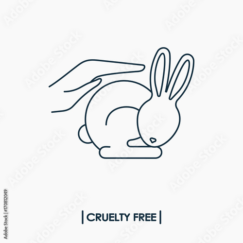 Animal Cruelty Free Logo Not Tested On Animals Symbol Rabbit In