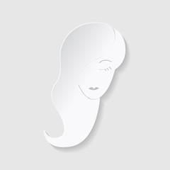 Horoscope paper cut style. Concept for Virgo. Vector illustration
