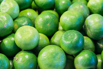 Lime Citrus Fruits In  Market