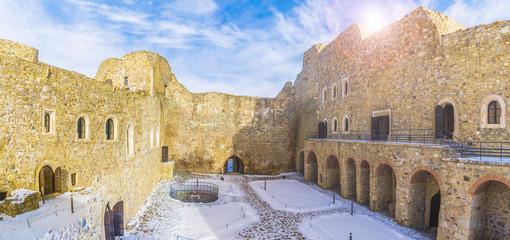 Wall Mural - Neamt Citadel - medieval fortress in Targu Neamt, Moldavia region, Romania