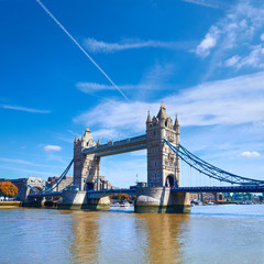 Wall Mural - Tower Bridge on a sunny day in London, square panoramic image