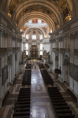 nave of the Salzburg Cathedral