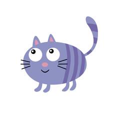 Crazy cat illustration