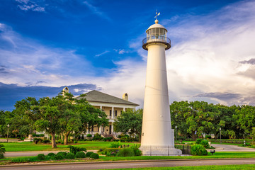Garden Poster Lighthouse Biloxi, Mississippi, USA
