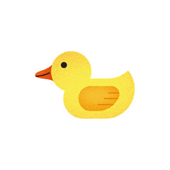 Yellow duck toy vector image isolated on white background. A cartoon illustration of a children toy