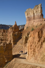 Hiking the Queens Garden Trail, Bryce Canyon National Park, Utah, United States of America, North America