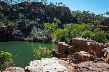 River and escarpment at Katherine Gorge in Nitmiluk National Park, Northern Territory, Australia
