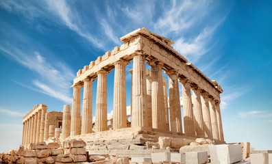 Poster Athens Parthenon on the Acropolis in Athens, Greece