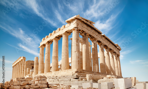 Wall mural Parthenon on the Acropolis in Athens, Greece