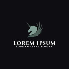 unicorn logo design concept template