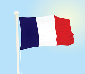 France national flag. vector illustration