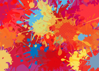 Abstract background of color stains of paints
