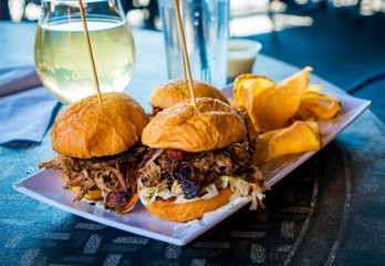 Pork Sliders and Bar Food