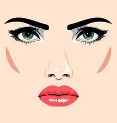 Face beautiful, seductive girl