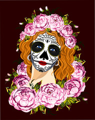 Mexican girl's death in sugar skull make-up