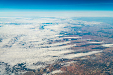 Flying Through Beautiful Landscape Of Earth Clouds