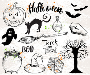 Halloween elements and quotes