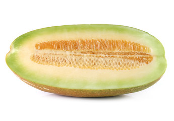 muskmelon isolated on white background