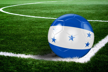Honduras Soccer Ball on Field at Night