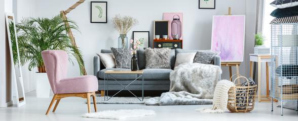 Cozy pastel room