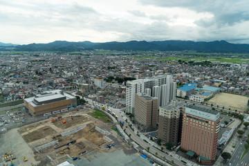 霞城セントラル展望台から見る山形市内の風景