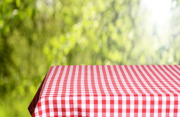 Empty table background