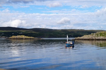 Raasay is an island located between Scotland and the Isle of Skye.