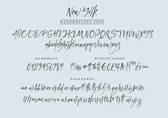New York handwritten font. Script.