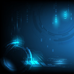 Abstract technology background interface communication hi tech concept
