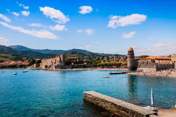 Vue de Collioure depuis la digue