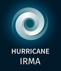 Graphic banner of hurricane Irma