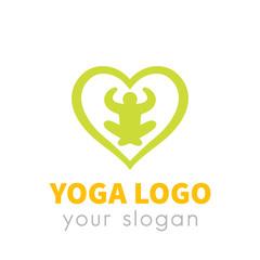 meditation, yoga logo element on white