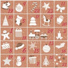 Adventskalender mit 24 Türchen für Kinder