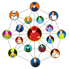 Professional Networking Site Concept