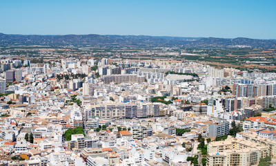 Aerial view of Faro, Algarve, Portugal.