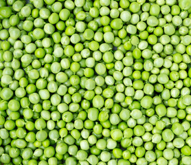 Fresh green peas.
