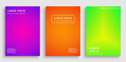 Colorful abstract pattern background with line texture for business brochure cover design with geometric halftone gradients