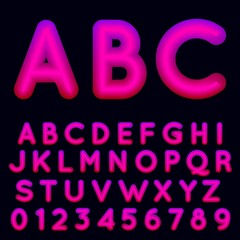 Fluid shapes font with hipster colors. Fluid shapes with hipster colors