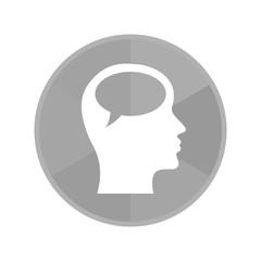 Kreis Icon - Sprechblase im Kopf