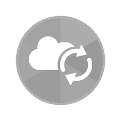 Kreis Icon - Wolke mit Synchronisieren-Symbol