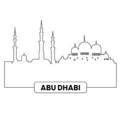 Cityscape of Abu Dhabi