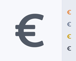 Euro Sign - Carbon Icons. A professional, pixel-perfect icon designed on a 32x32 pixel grid and redesigned on a 16x16 pixel grid for very small sizes.