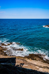 Vue sur la mer depuis Collioure